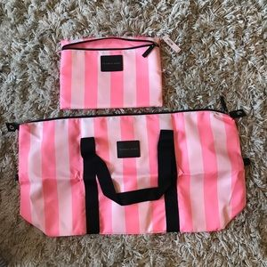 VS Duffle Bag & Cosmetic Pouch Tote